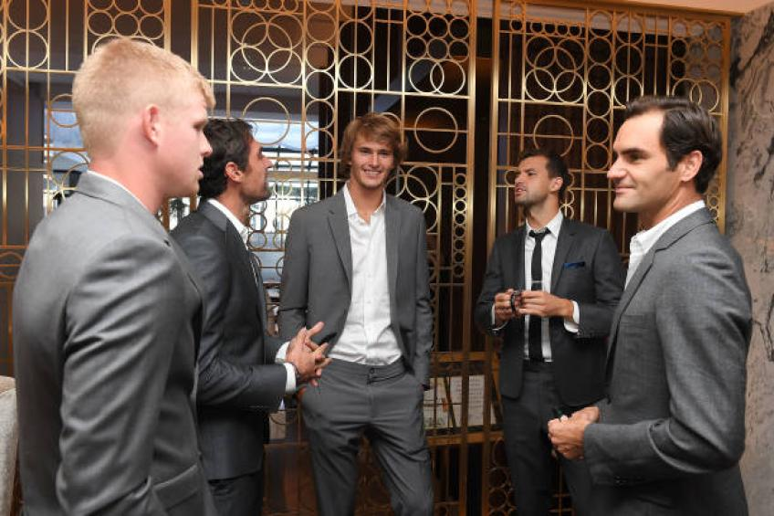 Kyle Edmund reveals private conversations with Roger Federer at Laver Cup
