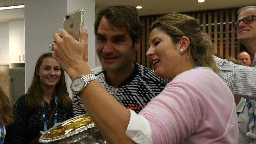 I hit with my four children the day after Djokovic match,says Roger Federer