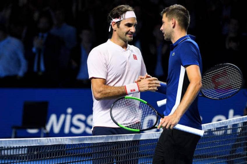 Filip Krajinovic: Roger Federer was putting pressure on umpire in Basel