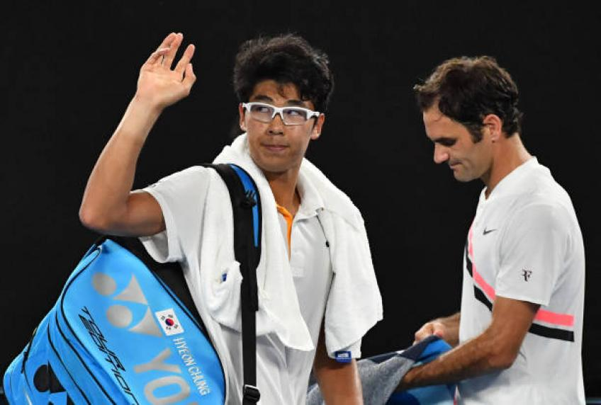 Hyeon Chung: 'Facing Roger Federer in Melbourne was an amazing feeling'