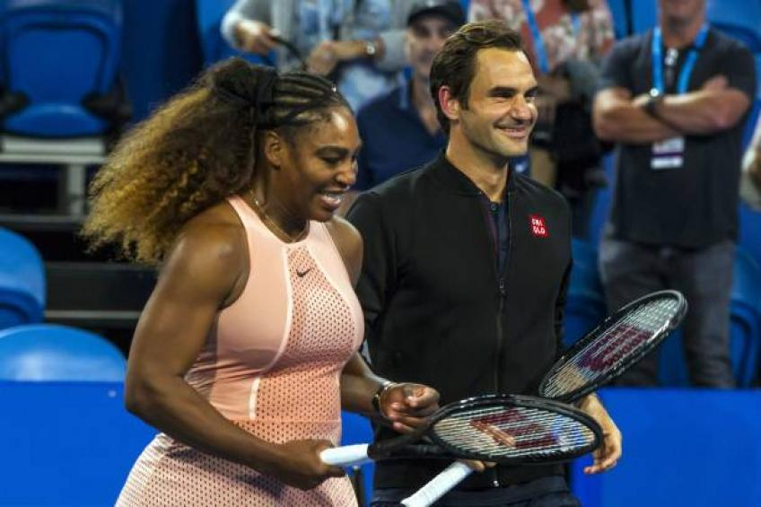 I wasn't thinking about acing Roger Federer says Serena Williams