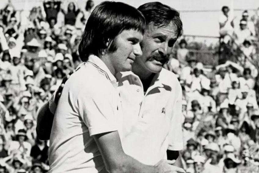 January 1, 1975: John Newcombe downs Jimmy Connors in the AO final