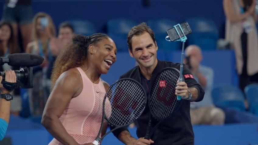 Roger Federer and Serena Williams: a selfie for the ages -Behind the scenes