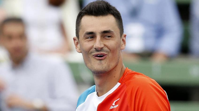 Kooyong: Bernard Tomic beats Nick Kyrgios with tweener underarm serve ace