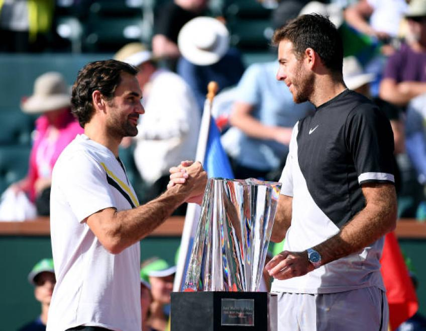 Roger Federer: 'Me and del Potro were both angry at umpire in Indian Wells'
