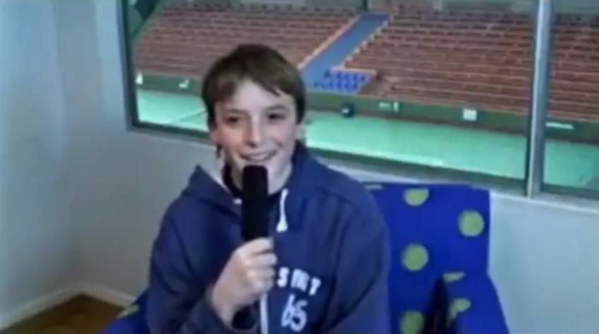 13-year-old Tsitsipas: 'My idol is Federer, I will try to reach the top'