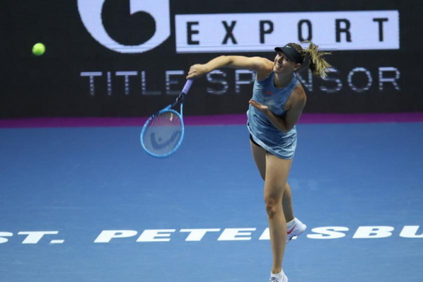 Maria Sharapova withdraws from St. Petersburg with right shoulder injury