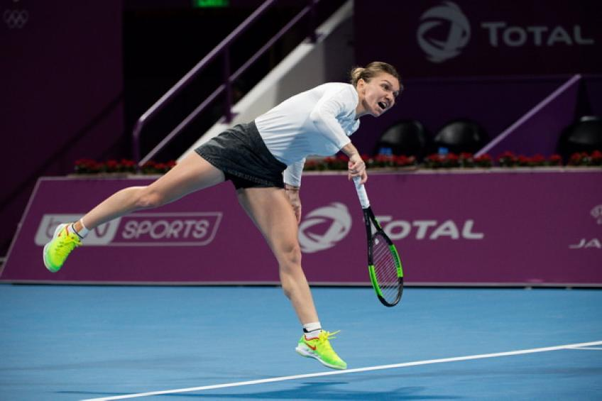Simona Halep sets up Doha semi-final showdown with Elina Svitolina