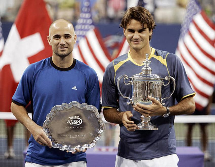 It's impossible not to like Roger Federer, says Andre Agassi