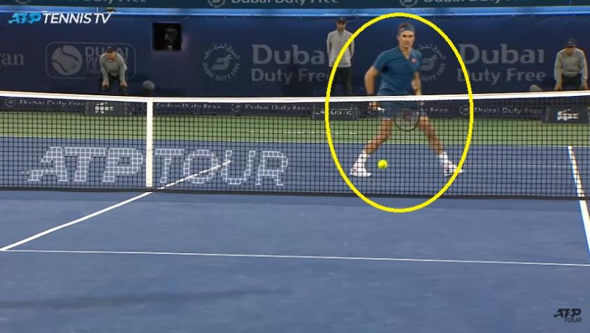 Federer's Stunning Drop Volley In 2019 Dubai Final