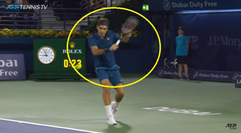 Federer Hits Perfect Drop Shot against Borna Coric