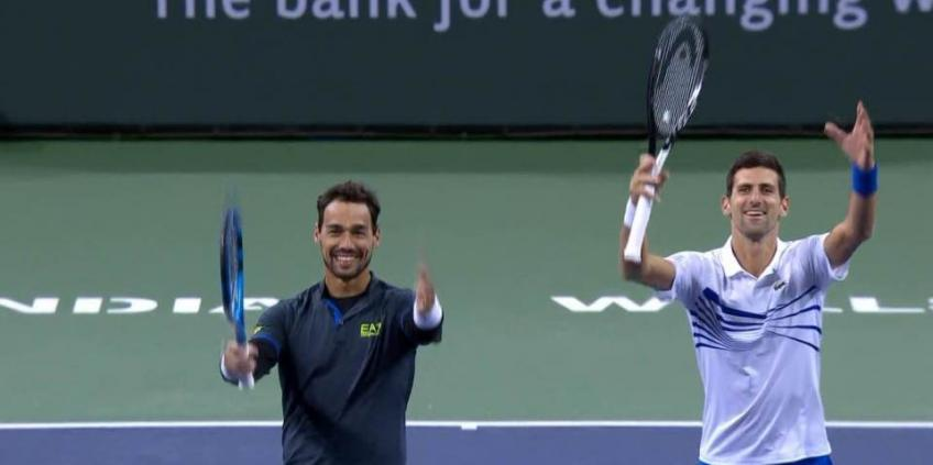 Indian Wells: Novak Djokovic and Fabio Fognini book semi-final spot