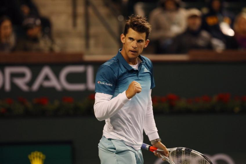 Dominic Thiem shows his respect for Ivo Karlovic after Indian Wells clash