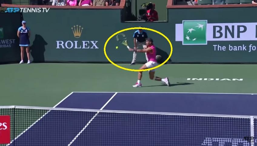 Nadal Unleashes Drop Shot Out Of Nowhere In Indian Wells