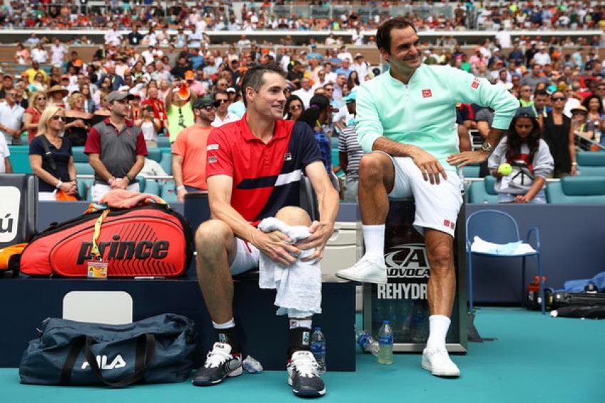 9f5eb9565580 John Isner draws differences between Federer s and Djokovic s return