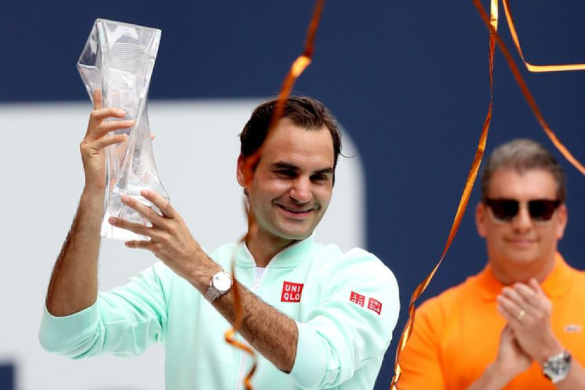 Roger Federer wins 101st title, beating John Isner in Miami Open final