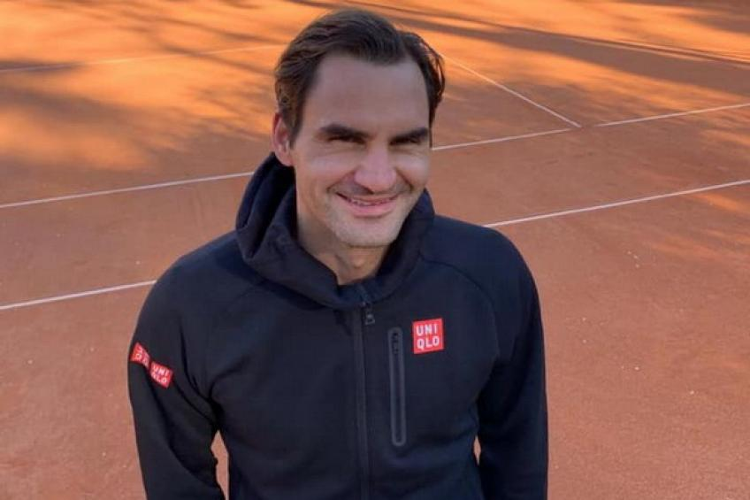 Roger Federer shares picture from clay court, preparing for action on dirt