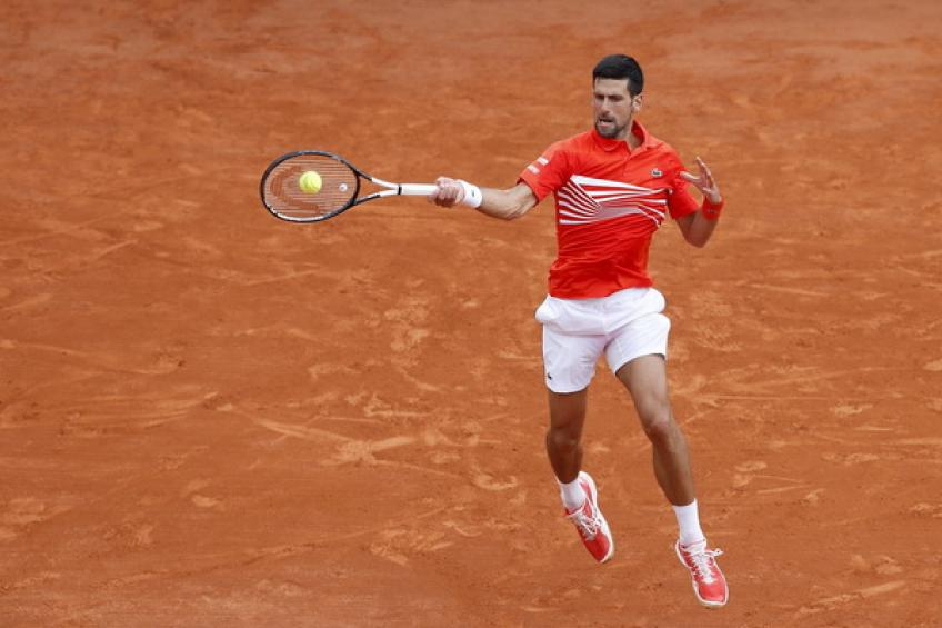 Novak Djokovic destroys racket in Monte Carlo win