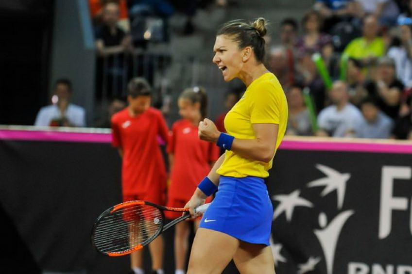 France, Romania level in Fed Cup semis