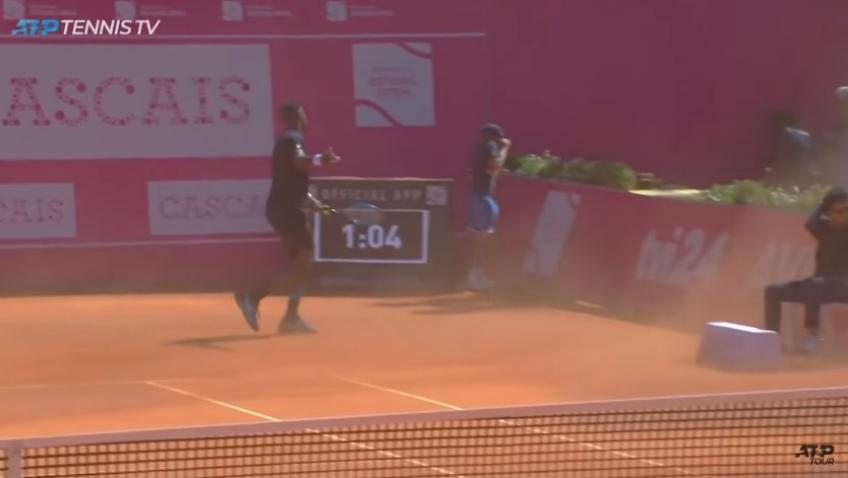 Gael Monfils cannot believe at Reilly Opelka's ridiculous ace