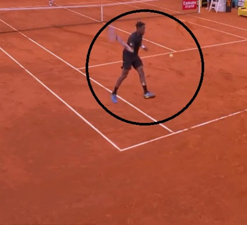Gael Monfils hits shot of the year