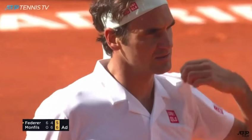 Roger Federer saves two match point - 2019 Madrid