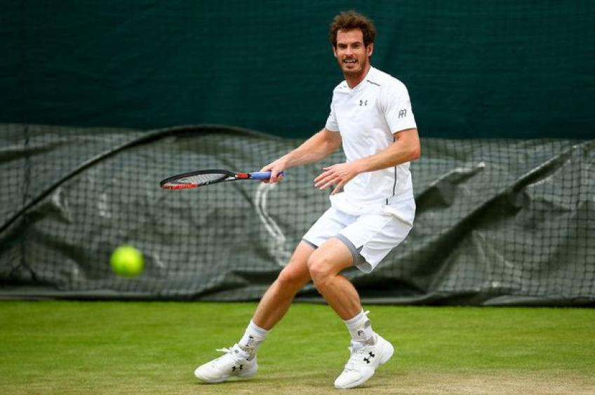 Andy Murray 'quietly practiced' at Wimbledon this week