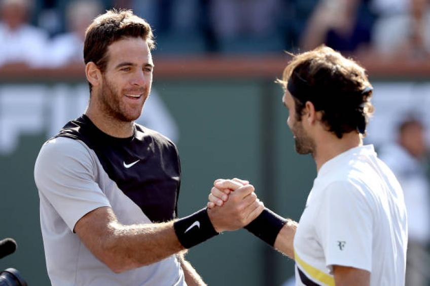 Del Potro: 'Fans in Rome are happier to see Federer more than me'