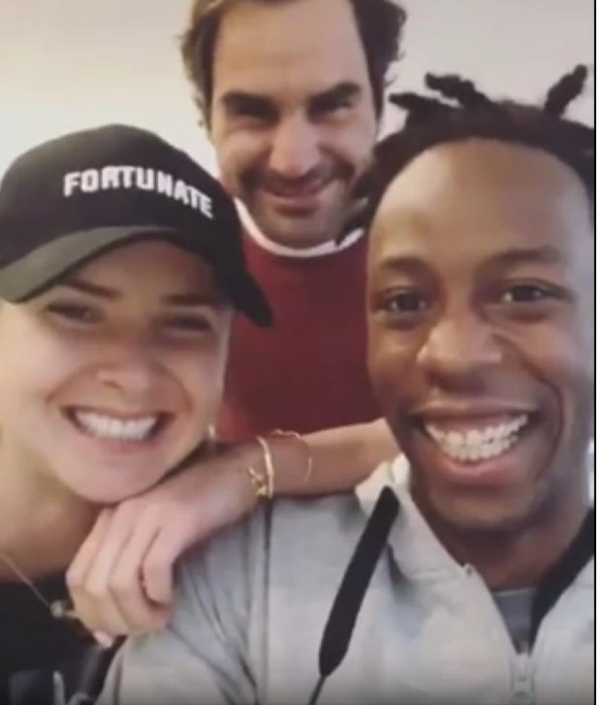 Elina Svitolina: 'Video with Roger Federer and Gael Monfils was natural'