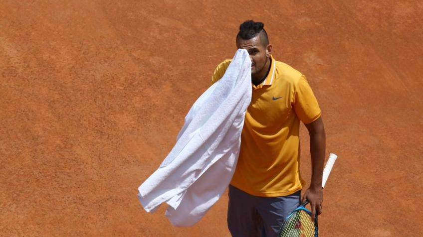 Nick Kyrgios fined €20,000 for unsportsmanlike actions at Rome Masters