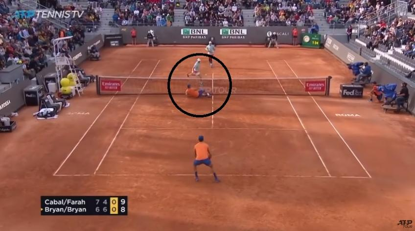 Cabal delivers stunning reflex against Bryan Brothers
