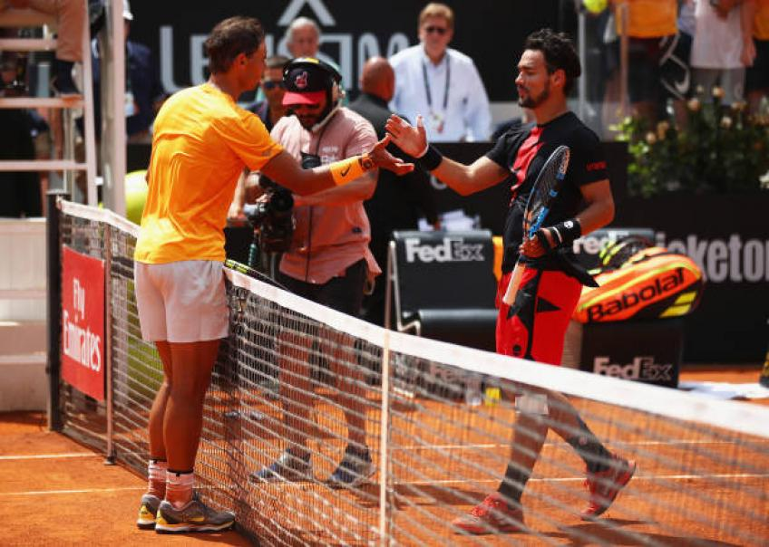 Fognini: 'Rafael Nadal is the strongest on clay. Djokovic and Federer...'