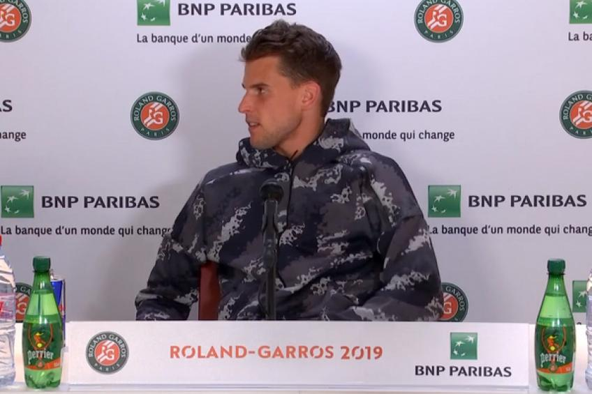 Furious Dominic Thiem leaves the press conference to let Serena Williams in