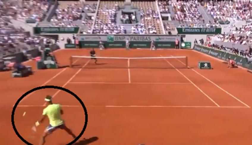 Rafael Nadal delivers amazing defence against Londero