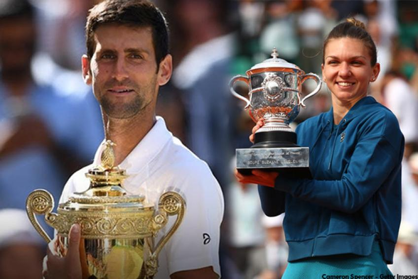 Djokovic and Halep, crowned as king and queen of tennis world