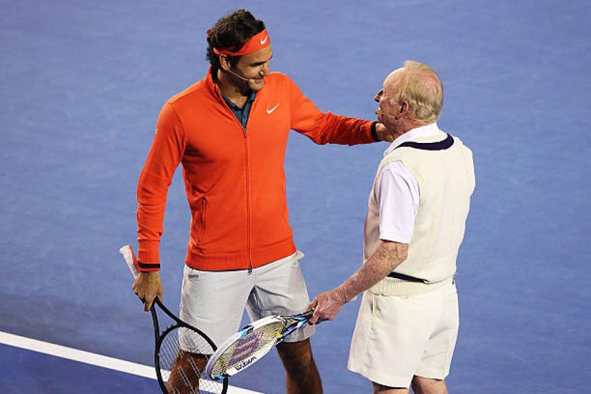 Rod Laver shares what's the biggest Roger Federer's strength