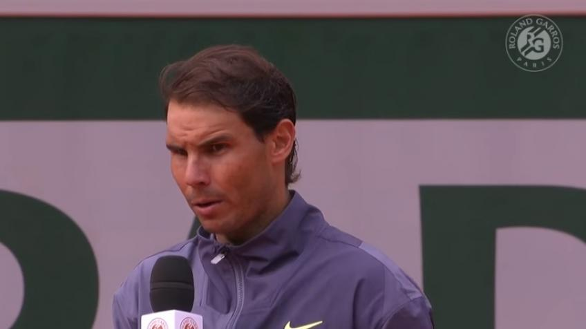 Rafael Nadal gives emotional speech in 2019 French Open