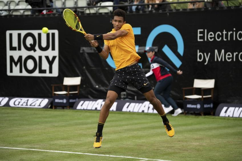 Felix Auger-Aliassime: 'It feels good to score the first win on grass'