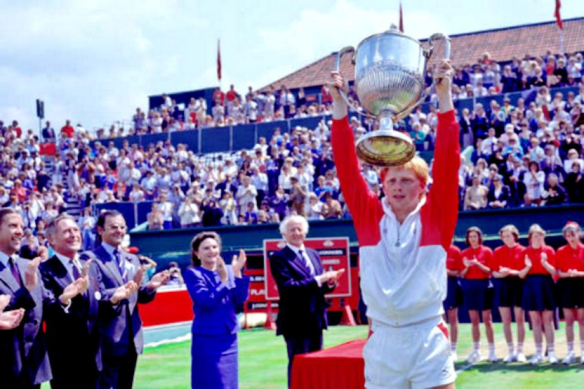 On this day: Boris Becker tops Jimmy Connors for the second Queen's title