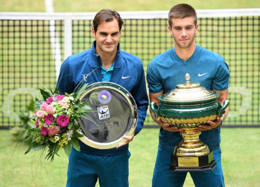 Federer downs Herbert to take a step closer to 10th Halle crown