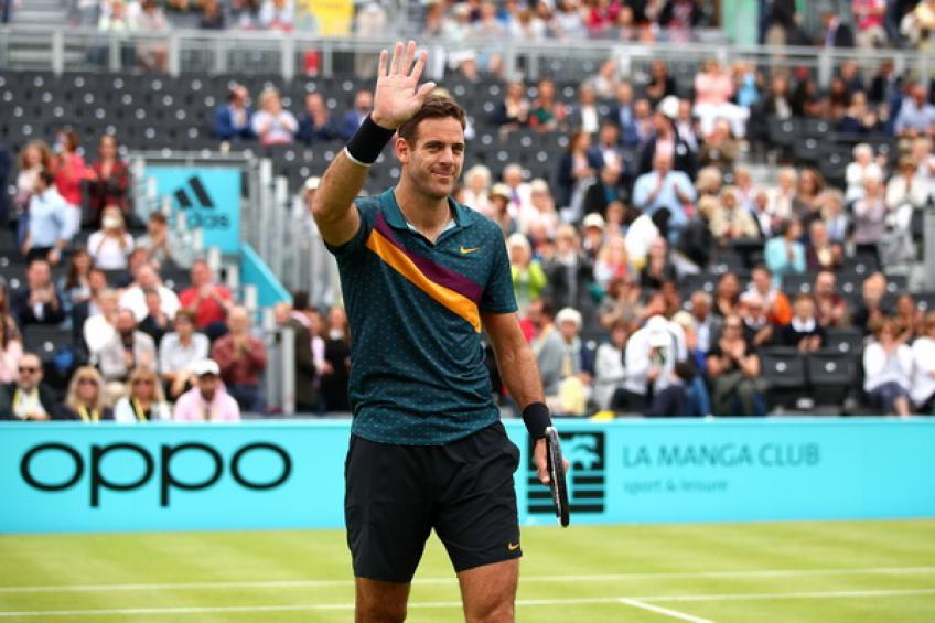 Juan Martin del Potro to undergo knee surgery after injury at Queen's
