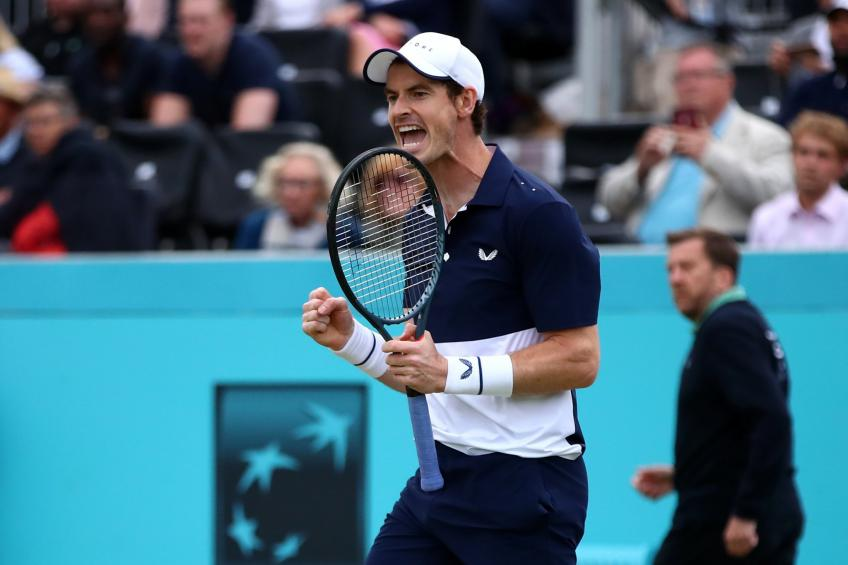 Andy Murray reacts to comeback win at Queen's Club