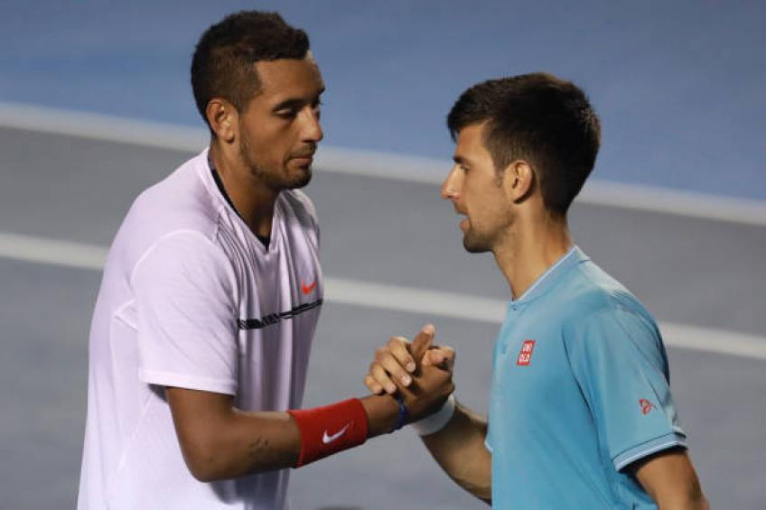 Nick Kyrgios reacts to Novak Djokovic's quotes about him