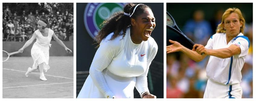 Who are the players who made history at Wimbledon women's singles?