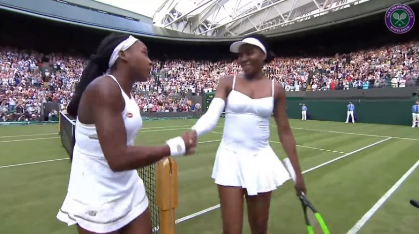 Cori Gauff to Venus Williams at the net: 'Thank you for everything'
