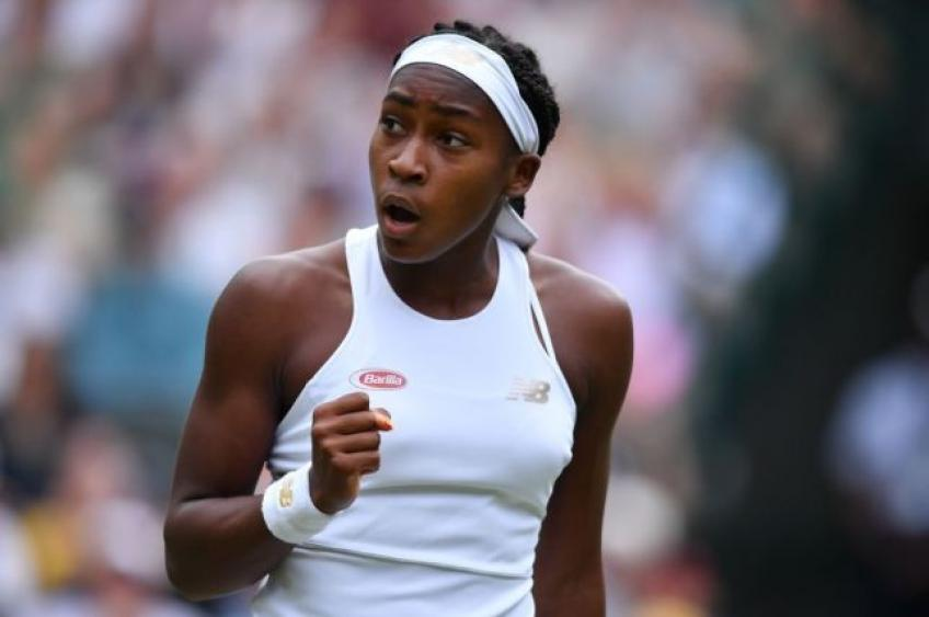 Coco Gauff loses mixed-doubles opener at Wimbledon