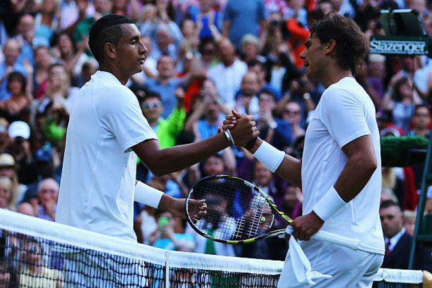 Nadal teaches Kyrgios lesson at Wimbledon, champion Kerber knocked out