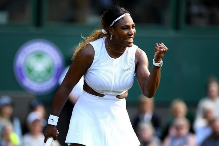 Wta Wimbledon Serena Williams Powers Past Julia Goerges To Reach