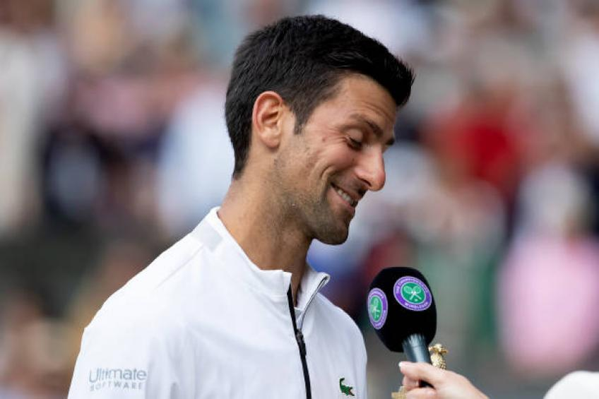 Novak Djokovic: 'Roger Federer is so talented, has perfect game for grass'