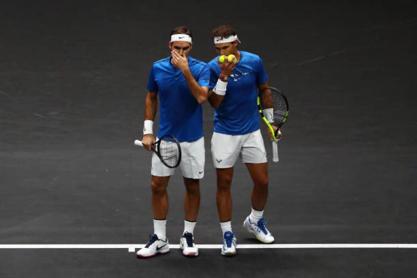Training next to Roger Federer and Rafael Nadal was great, says Swiatek